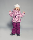 Child in winter clothes baby down jackets fashion Royalty Free Stock Images