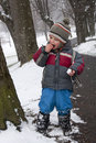 Child in winter park Stock Photography