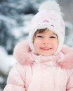 Child in winter park happy Royalty Free Stock Photo