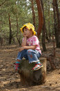 Child in wood Stock Image