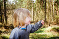 Child wood scared Stock Photo