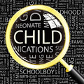 Child word cloud illustration tag cloud concept collage Royalty Free Stock Photos
