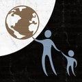 Child world protect symbol Royalty Free Stock Photo
