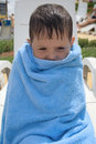 Child wrapped in a towel Royalty Free Stock Photography