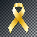 Childhood Cancer Awareness gold ribbon Royalty Free Stock Photo