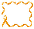 Childhood Cancer Awareness golden Ribbon frame