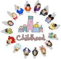 Childhood Children Palace Castle Graphic Concept