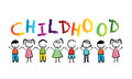 Childhood design over white background vector illustration Royalty Free Stock Images