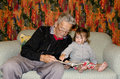 Childhood - Granddad Relationship Royalty Free Stock Photo