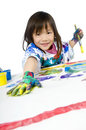Childhood Painting Stock Photo
