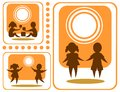 Childhood symbols set isolated on a white background Royalty Free Stock Photos