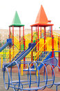 Childish playground bright on the street Royalty Free Stock Photo