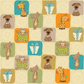 Childish seamless pattern with toys Royalty Free Stock Images