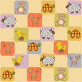 Childish seamless pattern with toys Stock Image