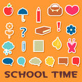 Childish stickers school elements Stock Photography