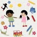 Childlike design Stock Images