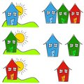 Childlike House Home Clip Art Stock Photos