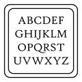 Children abc icon, outline style