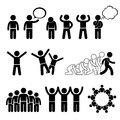 Children action pose welfare rights cliparts a set of human pictogram representing and these pictograms also show the being strong Stock Photos