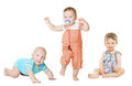 Children Active Growth Portrait, Little Kids, Baby Activity Royalty Free Stock Photo