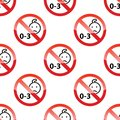 Children age restriction pattern Royalty Free Stock Photo