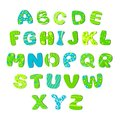 Children alphabet bright green blue Royalty Free Stock Photo