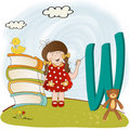 Children alphabet letters  W Stock Photography