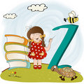 Children alphabet letters  Z Stock Images