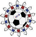 Children around a soccer ball