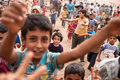Children at atmeh refugee camp atmeh syria Royalty Free Stock Photos