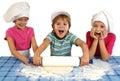Children baking Royalty Free Stock Photos
