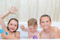 Children taking bath Royalty Free Stock Photo
