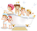 Children and bath Royalty Free Stock Photo