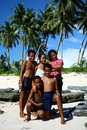 Children in the beach of Samoa Royalty Free Stock Photo