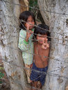 Children begging poverty Royalty Free Stock Photo