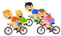 Children on bicycles Royalty Free Stock Photos