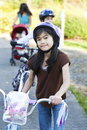 Children biking Royalty Free Stock Images