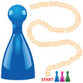 Children board game with chips vector illustration Stock Photography
