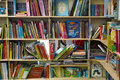 Children books on shelves Stock Photography