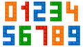Children Building Blocks Numbers Font Royalty Free Stock Photo