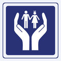Children care sign Stock Photos