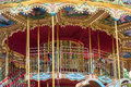 Children carousel with horses Royalty Free Stock Photo
