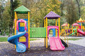Children Castle on Playground Royalty Free Stock Photo