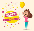 Children character. Cartoon vector illustration Royalty Free Stock Photo