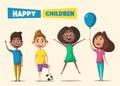 Children character. Cartoon vector illustration
