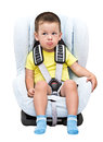 Children in a child car seat Royalty Free Stock Photo