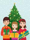 Children and Christmas morning Royalty Free Stock Image