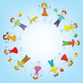 Children in a circle Royalty Free Stock Image