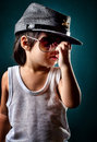 Children with cowboy fashion Royalty Free Stock Photo