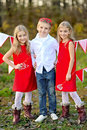 Children with decor style valentine s day Stock Photo
